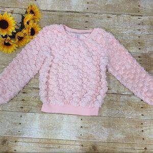 Pink fuzzy sweatshirt by Xhiliration. Size 6 / 6x